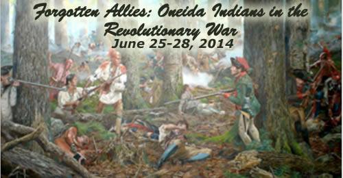 Forgotten Allies: Oneida Indians in the Revolutionary War – June 25-28, 2014 – PAST TOUR