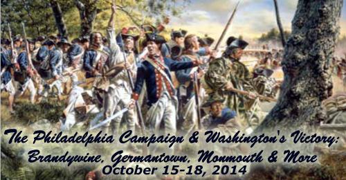 The Philadelphia Campaign and Washington's Victory: Brandywine, Germantown, Monmouth and more – October 15-18, 2014 – PAST TOUR